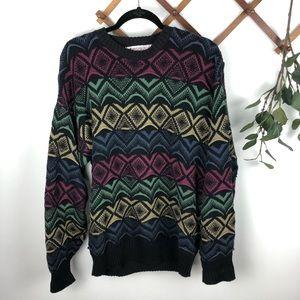 Vintage Oversized COOGI Look Knit Sweater